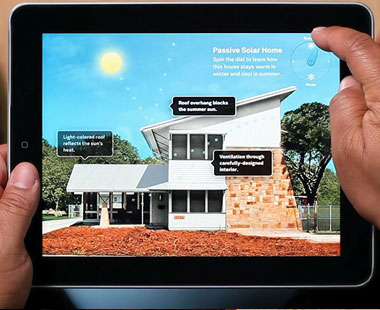 Solar house graphic in app